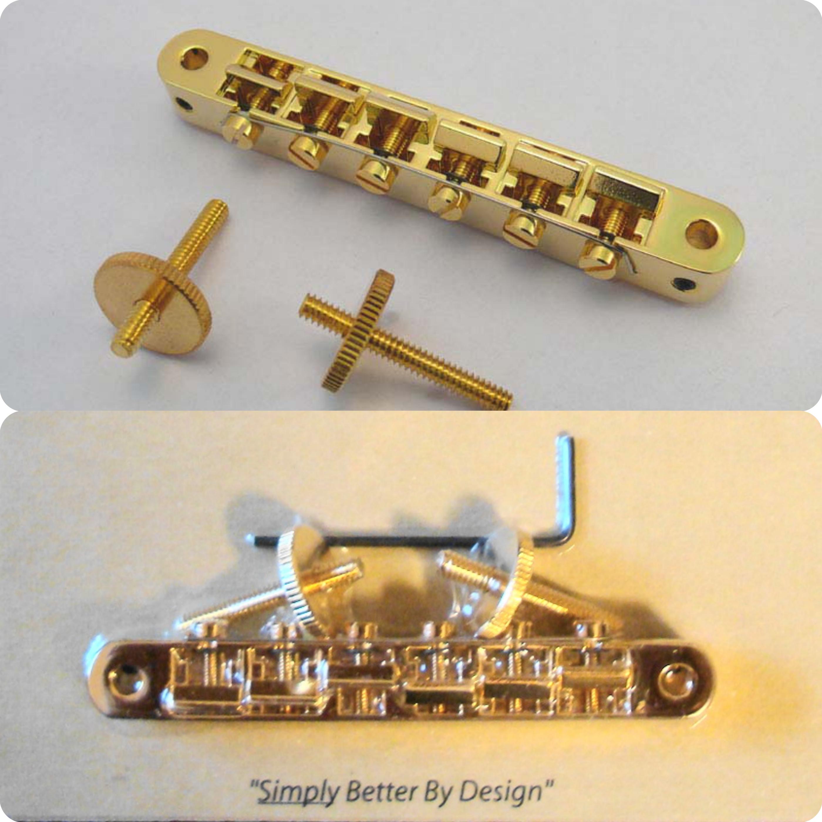 AVR2-G TonePros ABR1 Replacement Tune-O-Matic Bridge Gold Finish